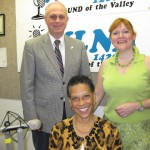 Standing L to R co-hosts Jonah Triebwasser and Sarah O'Connell.    Seated Dr. Sherre Wesley