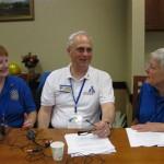 L to R: Outbound Chair Donna Bemiss, Co-host Jonah Triebwasser, Inbound Chair Nan Greenwood
