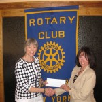 L-R: Ann Reilly, President of the Hyde Park Rotary and Radio Rotary Producer and Rotary e-Club 7210 Rotarian Betty Renner.
