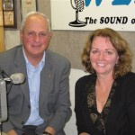 Left: Host Jonah Triebwasser with Margaret Bryngelson