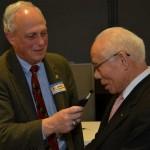 L. Jonah Triebwasser, R. Sakuji Tanaka at Rotary UN Day, 2012