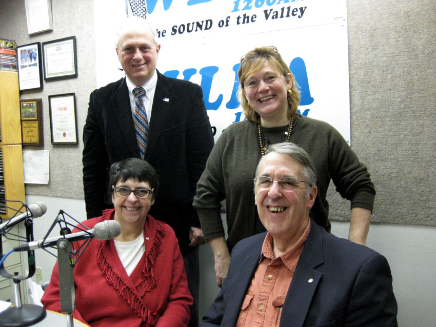 Seated L to R: Sue Osterhoudt, Pompey Delafield. Standing: Co-hosts
