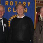 L to R:  Host Jonah Triebwasser, Dr. Nussbaum, Red Hook Rotary President Bruce Martin