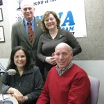 Seated: Donna Lennane, Kevin Muir. Standing: Co-hosts Jonah Triebwasser, Sarah O'Connell