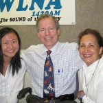 L to R: Cindy Fung, Andrew and Lila Meade