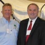 L-R: Louis Turpin, RI President Ron Burton, Larry Palant
