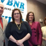 Co-host Jonah Triebwasser, attorneys Jill Faber and Lillian Welby, and Co-host Sarah O'Connell