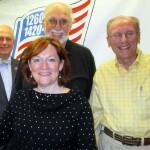 (l-r) Jonah Triebwasser, Bryan Bunch, Tim Tocher, Sarah O'Connell (front)